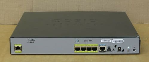 Cisco CISCO881-SEC-K9 4-Port Fast Ethernet Security Integrated Services Router
